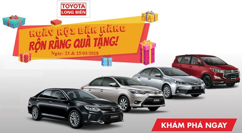 """Toyota Long Biên   """"Ngày Hội Bán Hàng"""" - tại Thành phố Hưng Yên"""